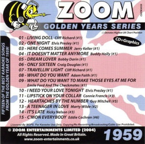 Zoom Karaoke Golden Years 1959 (CD+G)