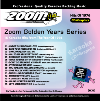Zoom Karaoke Golden Years 1976 (CD+G)
