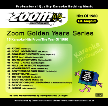 Zoom Karaoke Golden Years 1980 (CD+G)