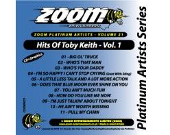 Zoom Karaoke Platinum Artists: Toby Keith Vol.1 (CD+G)