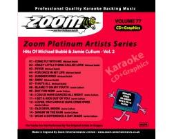 Zoom Karaoke Platinum Artists: Michael Buble & Jamie Cullum Vol.2 (CD+G)