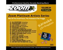 Zoom Karaoke Platinum Artists: Small Faces (CD+G)