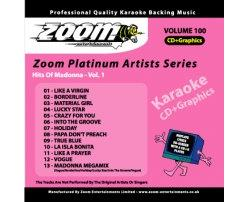 Zoom Karaoke Platinum Artists: Madonna Vol.1 (CD+G)