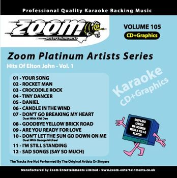 Zoom Karaoke Platinum Artists: Elton John Vol.1 (CD+G)